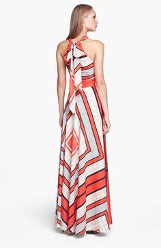 Eliza J Scarf Print Woven Maxi Dress (Regular & Petite)   Nordstrom