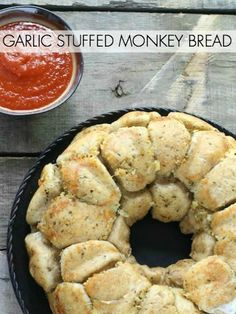 Nothing goes better with pizza than cheesy garlic bread. Serve this Garlic Stuffed Monkey Bread with a CPK oven-ready pizza and watch it disappear.