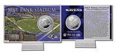 Baltimore Ravens Silver Coin Card - Stadium
