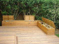 Timber Deck Design Ideas Get Inspired By Photos Of Timber Decks Deck Seating, Backyard Seating, Garden Seating, Outdoor Seating, Backyard Patio, Outdoor Cushions, Extra Seating, Deck Benches, Deck Design