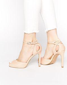 Pink | Miss KG Eddison Pink Heeled Sandals at ASOS