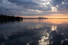 Fine Art Photography by Georgia Mizuleva - Early Morning Reflections - Lake Ontario and downtown Toronto Skyline