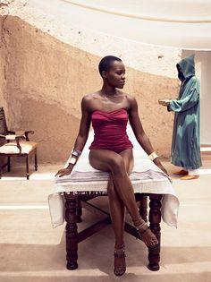Lupita Nyong'o covers Vogue US, July 2014