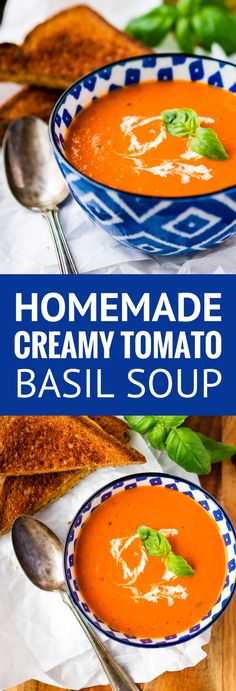 Low Carb Recipes To The Prism Weight Reduction Program Homemade Tomato Soup - This Creamy Tomato Basil Soup Recipe Is A Total Copycat Of My Favorite Soup At First Watch Perfect Paired With A Hot And Fresh Classic Grilled Cheese Sandwich Via Unsophisticook Homemade Tomato Basil Soup, Easy Tomato Soup Recipe, Fresh Tomato Soup, Tomatoe Basil Soup Recipe, Tomato Basil Soup Crockpot, Tomato Soups, Tomato Basil Pizza, Tomato Basil Salad, Vegan Tomato Soup