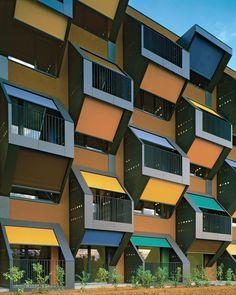 Honeycomb Apartments, Izola, Livade, 2006 by OFIS Arhitekti #architecture #socialhousing #colors #windows