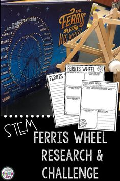 Are you looking for fun STEM activities that your students will enjoy? I have the one for you! It connects to the books Mr. Ferris and His Wheel by Kathryn Gibbons and George Ferris, What a Wheel by Barbara Lowell. The Ferris Wheel Activity will give students the opportunity to research and experiment with many important science and math concepts. Your students will love designing, creating, and engineering. Students will problem solve and think critically as they complete their challenges.