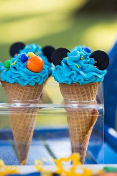 Loving the fun ice creams at this Mickey Mouse & Friends Birthday Party!! See more party ideas and share yours at CatchMyParty.com #icecream #mickeymouse