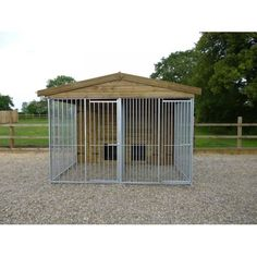 Double Apex Roof - Dog Kennel & Heavy Duty Bar Run - Dunsby Double