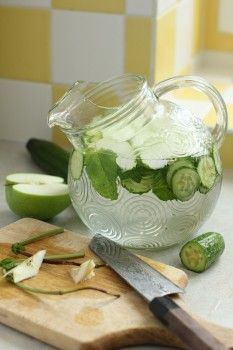 Wonder Water with Cucumber, Apple and  Mint