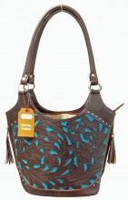 TOOLED LEATHER CONCEALED CARRY PURSE BROWN WITH TURQUOISE ACCENTS Tooled Leather, Leather Tooling, Concealed Carry Purse, Turquoise Accents, Holsters, Carry On, Oregon, Ann, Purses