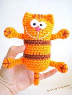 Pattern Crochet Cat Pattern Instant download pdf от AllSoCute