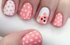 Here is the 15 Easy and Simple Nail Designs for Beginners To Do At Home. Learn Easy Nail Art Designs with this Given Step by Step Tutorial Pictures. Nail Art 2014, Dot Nail Art, Polka Dot Nails, Pink Nails, Polka Dots, Girls Nails, Bright Nails, Yellow Nails, Dot Nail Designs
