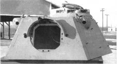 Panther II prototype turret. Note the rangefinder blisters on the upper sides.