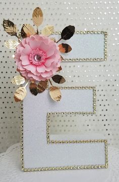 This gorgeous floral letter E is perfect for many occasions like Birthday party, baby shower, babys nursery room, girls Paper Mache Letters, Diy Letters, Letter A Crafts, Wooden Letters, Letters Decoration, Chic Nursery, Baby Girl Nursery Decor, Floral Nursery, Nursery Room