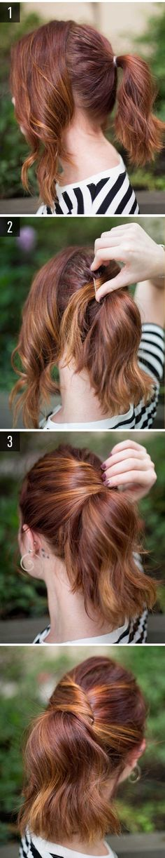 15 Super-Easy Hairstyles for Lazy Girls Who Can't Even - . A classy pony hair tutorial. Lazy Girl Hairstyles, Super Easy Hairstyles, Chic Hairstyles, Wedding Hairstyles, Hairstyle Ideas, Updos Hairstyle, Ladies Hairstyles, Braided Hairstyles, Pixie Hairstyles