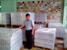 Pallets to be ready for loading. #Encaustic handmade cement tile , #Saigon tiles, #Hanoi cement tile , #traditional cement tiles , #vietnam cement tile, #floor cement tile, #walling tile, indoor tiles, kitchen tiles, #hydraulic cement tiles , patterned tiles, #pressed cement tiles , #morocco tile