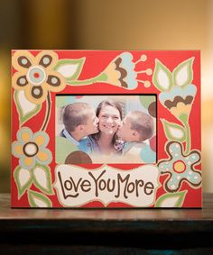 This Red 'Love You More' Frame is perfect! #zulilyfinds. Love the design. Might have to adapt it for another use.