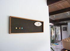 Original Mid Century Wall Clock by Peter Pepper Modern Wall Art, Mid-century Modern, Vintage Modern, Metal Grid, Wall Clock Design, Wood Clocks, Mid Century Modern Art, Minimalist Design, Pepper
