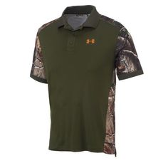 Under Armour® Men's AllSeasonGear® Wylie Camo Polo.  Awesome.  I have only found this at academy sports.