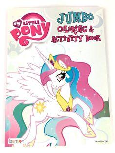 My Little Pony Jumbo Coloring Activity Book For Kids 2 Princess Celestia