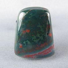 Bloodstone Cabochon Green red Jasper Beautiful by azbluerockers, $18.00