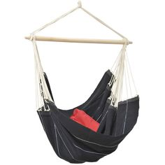Amazonas Brasil Hanging Chair - Black ($110) ❤ liked on Polyvore featuring home, outdoors, patio furniture, hammocks & swings, black, outdoor hanging chair, amazonas hammock and outdoor hammock