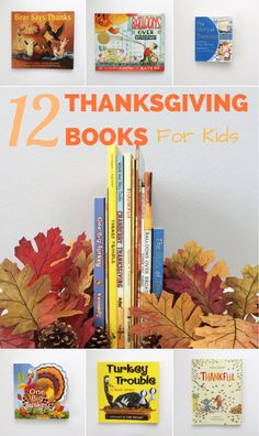12 Children's Books About Thanksgiving and Gratitude. Great reading book list for kids to teach gratitude, traditions, and Thanksgiving fun.
