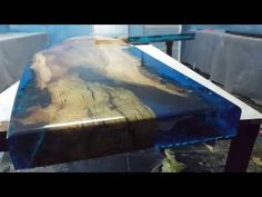Lagoon Tables That I Made By Merging Resin With Cut Travertine Marble Slideshow - YouTube