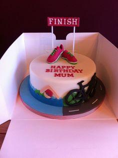 Triathlon Cake #houseofcakesessex