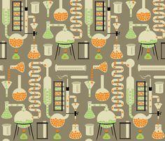 Chemistry Alphabet fabric by meliszawang on Spoonflower - custom fabric