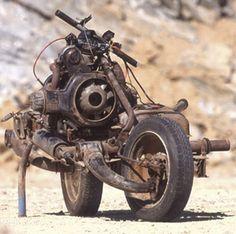 2CV converted into bike