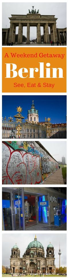 Berlin, the capital city of Germany, has so much to offer. Go for the weekend; we have it all planned for you!...............................Berlin guide | What to do in Berlin | Things to see in Berlin | weekend | citybreak | Berlin itinerary