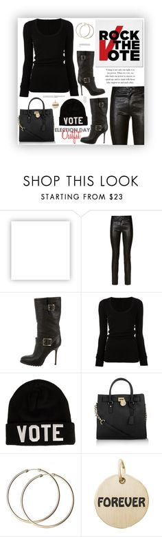 """My actual Election Day Outfit"" by fassionista ❤ liked on Polyvore featuring Olsenboye, Paige Denim, Jimmy Choo, DRKSHDW, Reason, Michael Kors, Rembrandt Charms, fashionset, rockthevote and electionday"