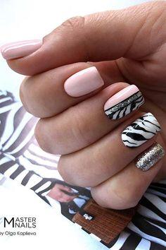zebra nail designs pink \ nail zebra designs - zebra toe nail designs - zebra nail art designs - nail designs zebra print - zebra nail designs animal prints - zebra nail designs glitter - pink and black zebra nail designs - zebra nail designs pink Zebra Nail Designs, Light Pink Nail Designs, Silver Nail Designs, Light Pink Nails, Short Nail Designs, Nail Polish Designs, Gel Polish, Animal Nail Designs, Nails Design