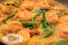 Ginataang Gulay - Squash, shrimp and green beans that simmer in coconut milk.