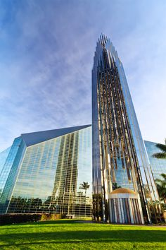 The Crystal Cathedral in Garden Grove, Orange County, California by Philip Johnson