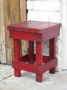 Pequeño rojo tabla de extremo mesa mesita de noche otros