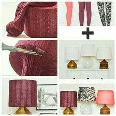 Lap shades with tights?! GENIUS!!! And inexpensive! So you can splurge on the lamp itself and then change the shade whenever the mood (or season!) strikes you!