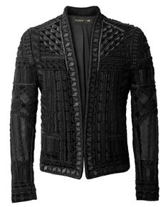 Balmain x H&M Black Velvet Embroidered Jacket (Limited Edition) Blazer Size 6 (S) - Tradesy Balmain Collection, Men's Collection, H&m Collaboration, Leather Jacket Dress, Revival Clothing, Women's Clothing, Balmain Men, Balmain Jacket, Vintage Mode
