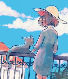 Two's company, studio ghibli Totoro, Studio Ghibli Art, Studio Ghibli Movies, Manga Anime, Anime Art, Hayao Miyazaki, Personajes Studio Ghibli, She And Her Cat, Otaku