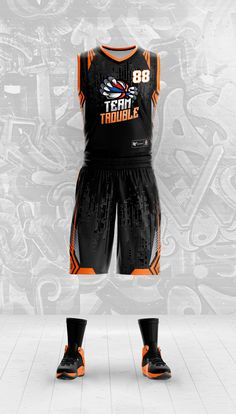 28e3d630d Custom basketball uniform design. NBA template. Team Trouble  sportsuniform   customuniform  custombasketballuniform