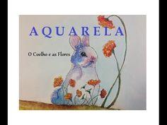 O Coelho e as Flores - Aquarela #1 - Estúdio Brigit