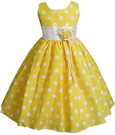 Amazon.com: AMJ Dresses Inc Little Girls' Yellow Flower Summer Dress S3111 Sz 4: Special Occasion Dresses: Clothing