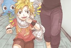 Omg!! The son of Natsu and Lucy he's so cute!!!