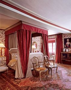 """Molyneux has a particular affinity for Louis XVI furnishings. """"There is a masculine purity of line—straight legs, square angles—that hints at the Empire to come,"""""""