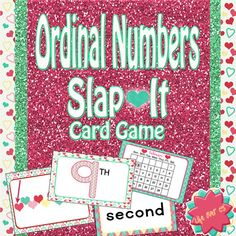 FOREVER FREE!! Ordinal Numbers 1st-10th Slap-It! Card Game 4 formats: Picture, numbers, words, calendar. Lots of fun reviewing this concept!  #math #education #ordinalnumbers #1stgrade #kindergarden #cardgames #SlapIt