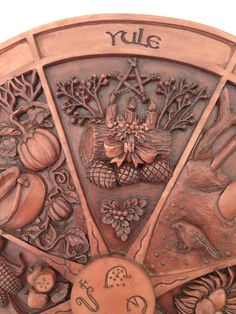 Wheel Of The Year Plaque - Yule