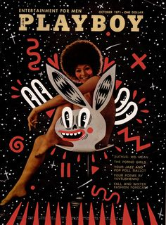 Hattie Stewart's remix of Playboy's October 1971 cover