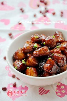 yummy glazed pork...wish the recipe was not in chinese!
