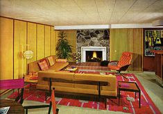 Encyclopedia of Home Improvement, 1970 - Retronaut. Everything about this room makes me squeal. Definitely was born in the wrong decade.